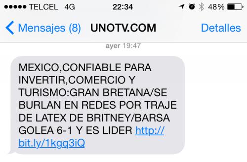 Te indicamos los pasos para desactivar el servicio UnoNoticias de tu Telcel