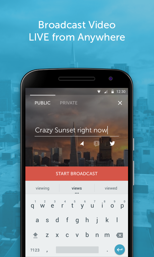 Interfaz Periscope para Android