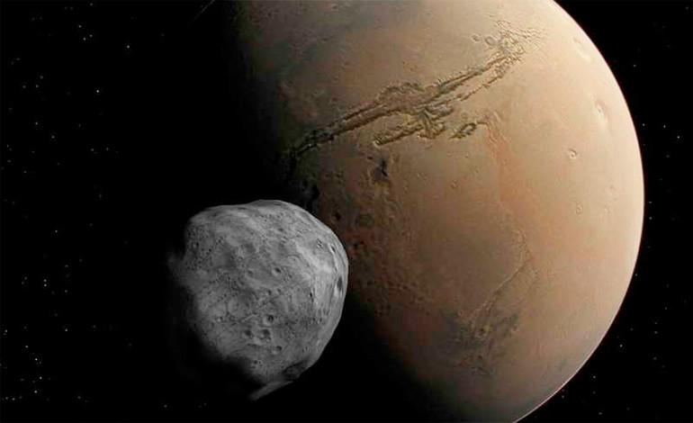 Fobos y Marte