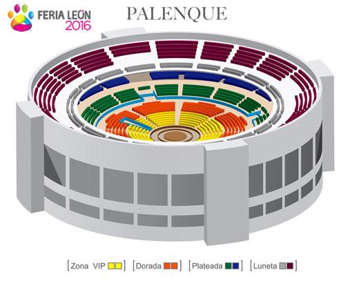 Zonas del Palenque Fería de León 2016