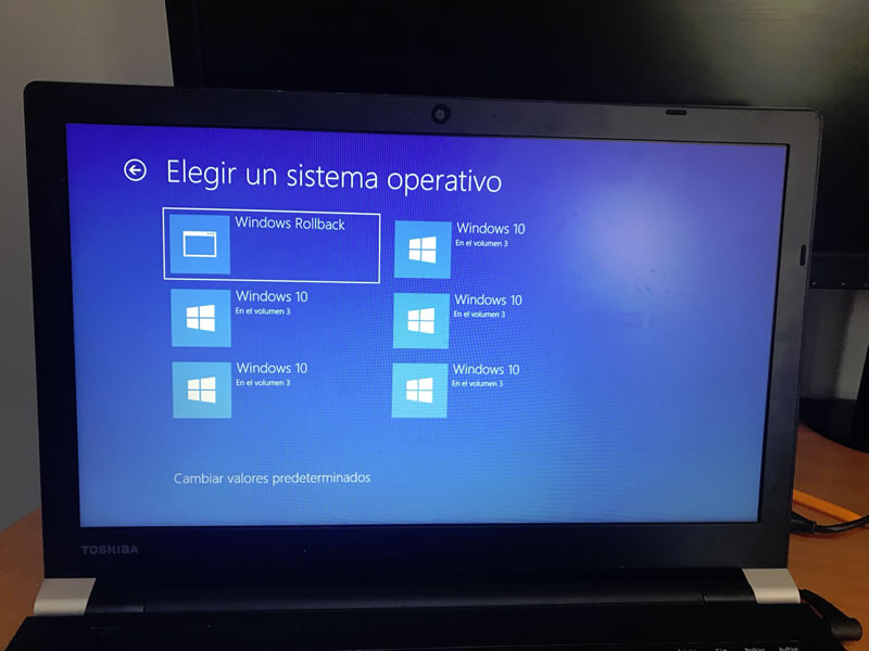 Recuperar Windows 10 falla actualización Abril 2018: Paso 3