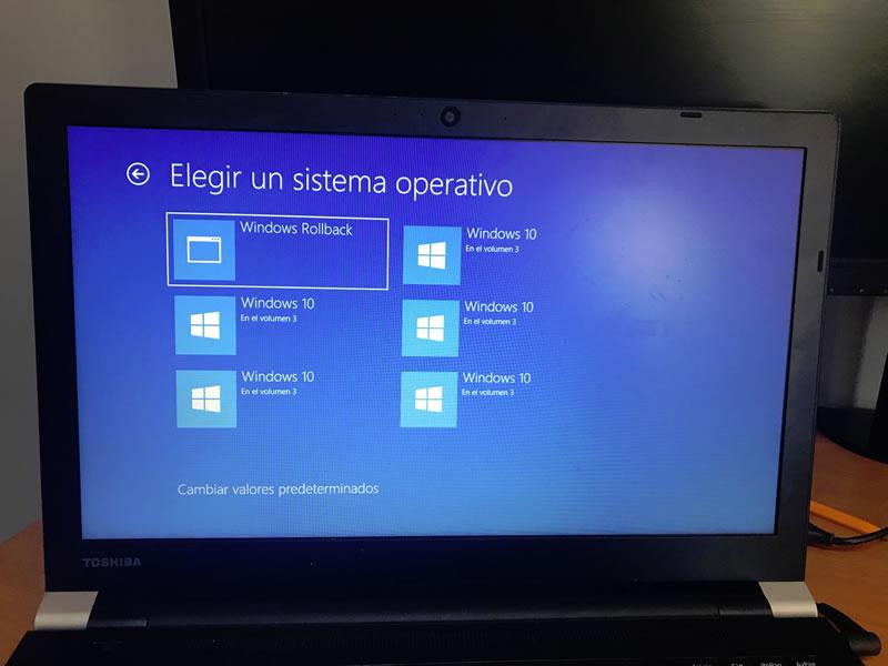 Recuperar Windows 10 falla actualización Abril 2018: Paso 3