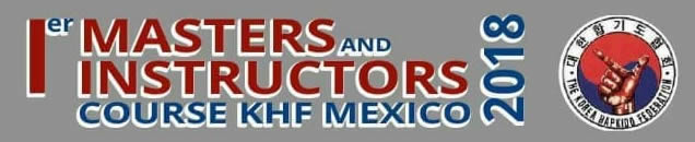 Logo Primer Masters and Instructors Course KHF Mexico 2018