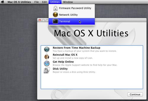 Restablecer Contraseña Mac