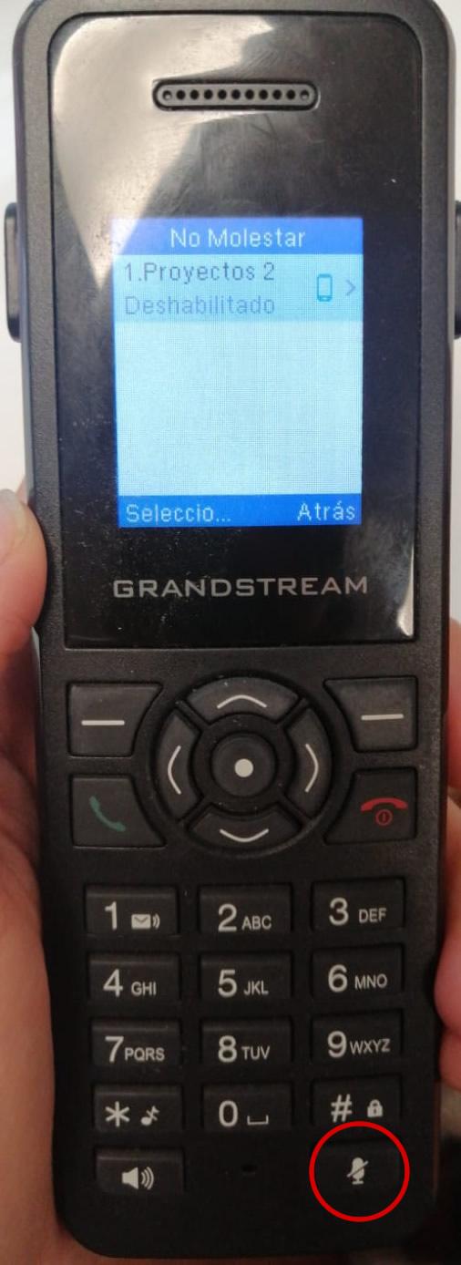 DP720 DND no habilitado pero no entran llamadas